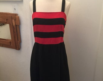 80's raw silk dress with side buttons and adjustable straps