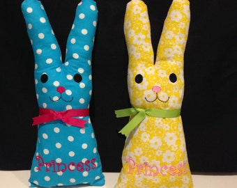 handmade soft toy, stuffed princess rabbit bunny for children