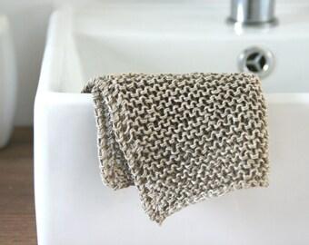 Linen washcloth, Bath linen, Natural skincare, Facial cloth, Eco friendly, Knitted washcloth