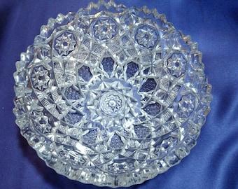 Crystal cut glass bowl