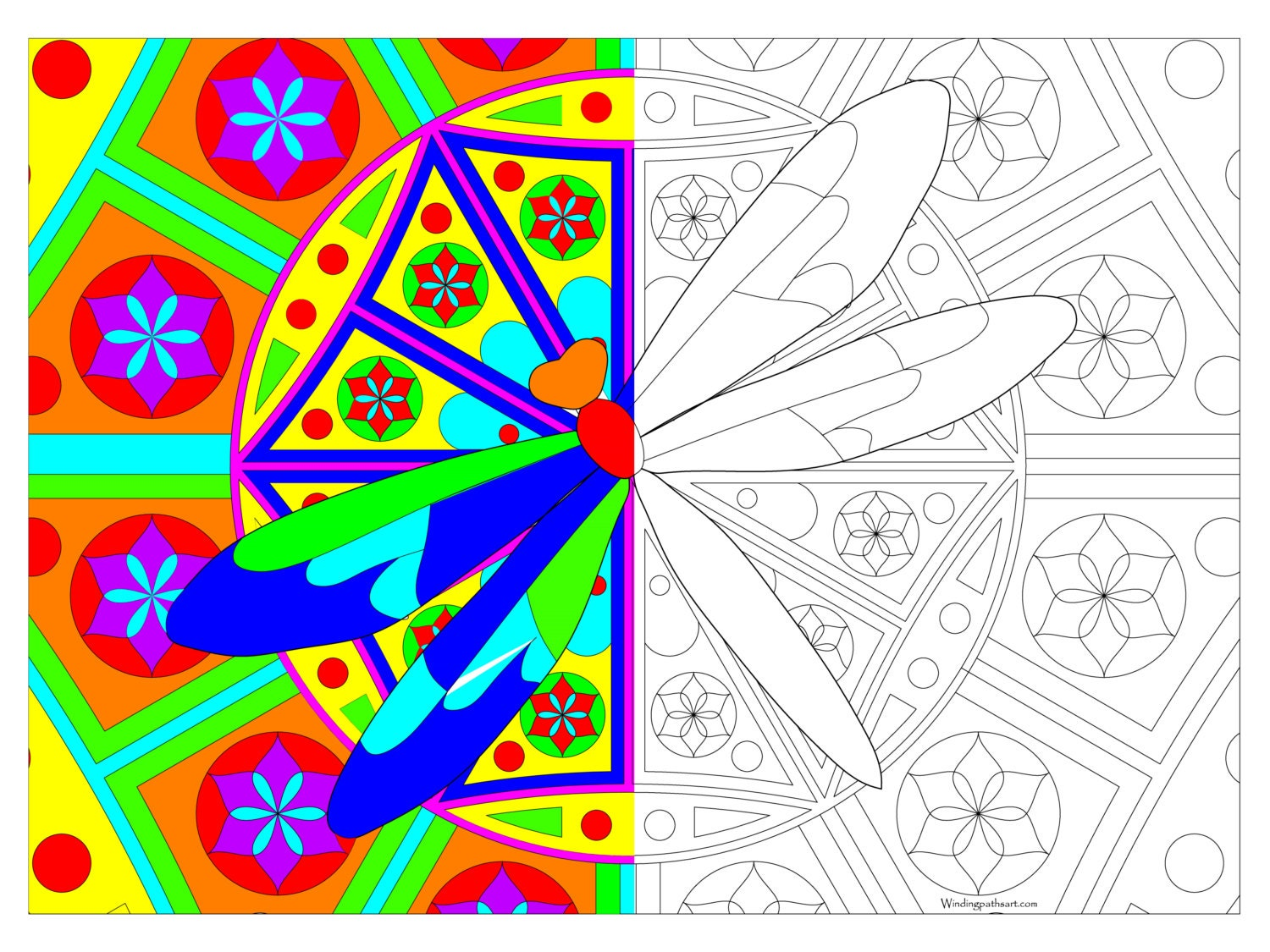 Dragonfly Planner Giant Coloring Poster Dragonfly 32 Quot X 24 Quot From