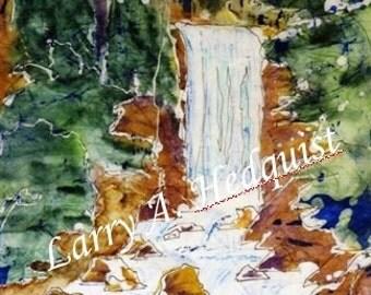 Vernal Falls (LAH #086, 8 x 10)