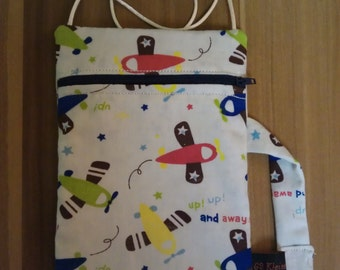 Neck pouch, sewn for boys
