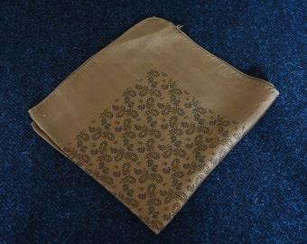 Silk Pocket Square - Green Paisley Pattern