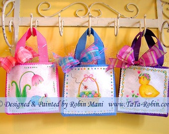 258 Easter Goodie Totes Decorative Painting Pattern