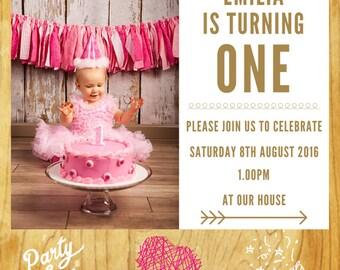 Custom Photo Birthday Invitation Printable