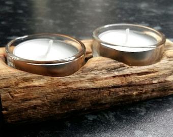 Double Driftwood Tealight holder