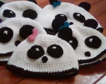 Panda bear hats