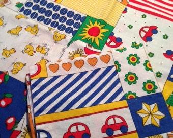 Vintage baby bedding 2 PCs, PILLOWS, vintage pillows, baby bedding, patchwork, pillow, vintage linens, fabric children