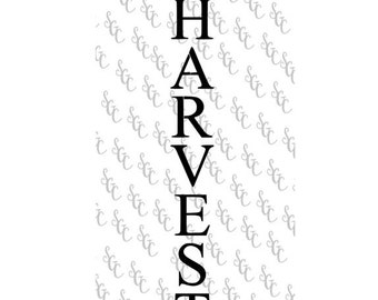 Reusable Stencil - Harvest - Tall Letters for Vertical Sign!
