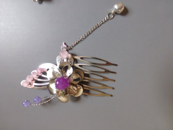 Chinese Sliver Butterfly and Flower  Hair Accessories Hair Comb Hair Clip Hair Stick Hair Pins