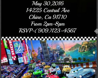 CARS DIGITAL INVITATION