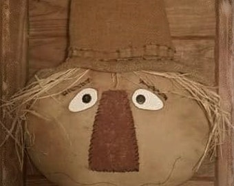 Primitive Scarecrow door or wreath hanger