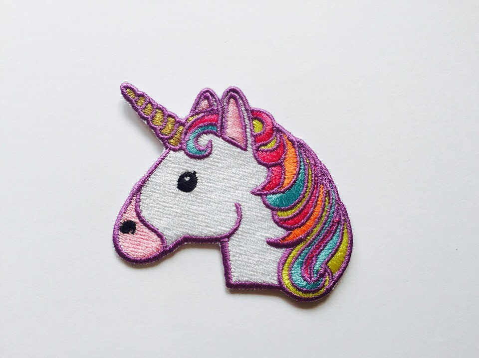 Unicorn patch iron on embroidered patches applique