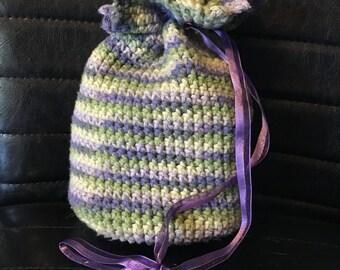 Crochet Drawstring Bag (medium)