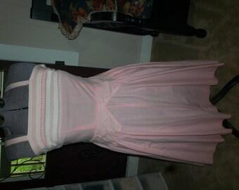 VINTAGE 1950S pink cotton sundress