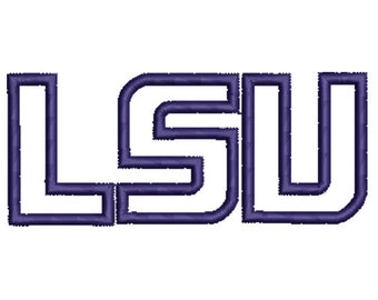 LSU Applique Embroidery Design -INSTANT DOWNLOAD