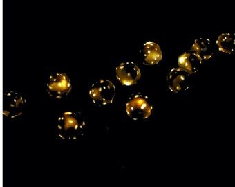 MoonTrees in Darkness - Print - Fine Art Photography - night - moontrees - black - gold