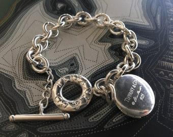ELSA PERETTI Tiffany sterling silver vintage locket bracelet