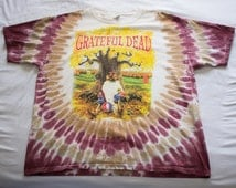 Vintage DS 1994 Grateful Dead Madison Square Garden N.Y.C. Fall Tour *New With Tags* tie dyed trippy wavy Rip Van Winkle Size XL
