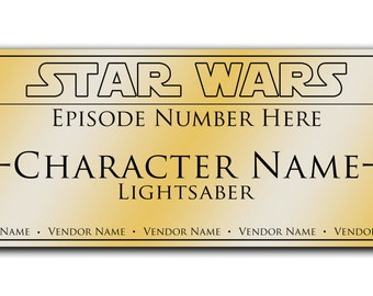 Custom Lightsaber Display Plaque