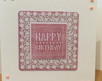 Pretty Birthday card