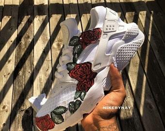 Handpainted Rose Huaraches