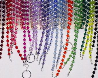 Ultimate Sterling Silver and Jet Black Beads Friendship Bracelet