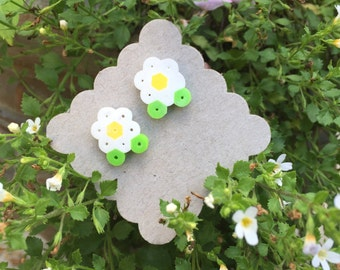 daisy earrings with surgical steel backs