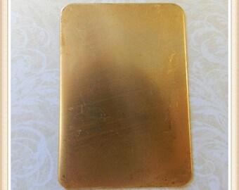 raw brass rectangle blank E0008