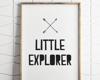 little explorer wall art decor, little explorer print, little explorer wall decor, little explorer art, explorer printable