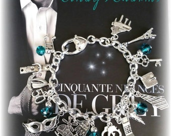 Bracelets charms fifty shades of grey