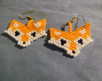 Fox Head Earrings