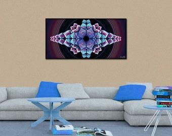 CUBEYE - Abstract Geometry - Canvas Print - 70cm x 35cm