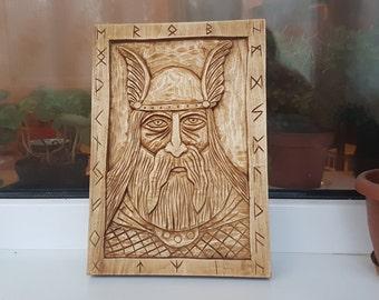 Wood carving, wall art