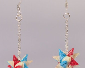 Hand-crafted paper star Earrings