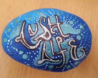 Large hand painted pebble