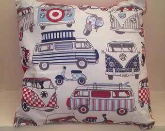 """16"""" Retro Campervan & Scooter Cushion Cover"""