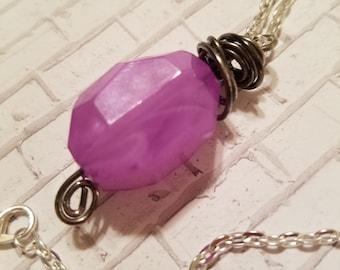 Sale Purple stone necklace