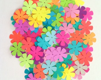 "100 - 1 1/2"" Assorted Flower Die Cuts for Paper Crafts"