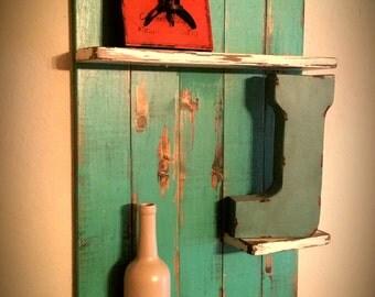 Rustic shabby chic wall shelves