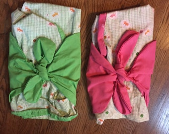 Customized Baby Swaddle: Twins