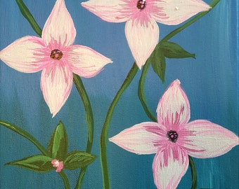 Pink and White Flowers by C.Becker