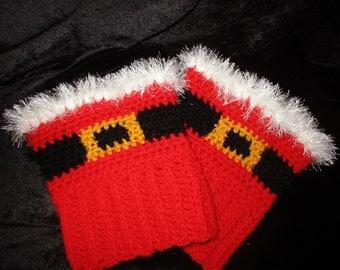 Christmas boot cuffs.