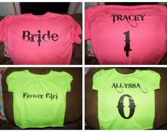 Personalized Wedding Party Shirts
