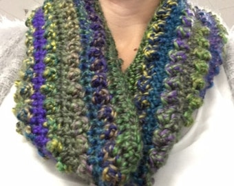 Treble Crocheted Cowl for fall