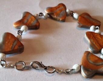 Clay Heart Bracelet
