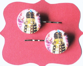 Doctor Who Dalek Bobby Pins -  Dr Who Hair Pins Exterminate!