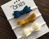 Best Selling Bow Set - Peacock - Baby Headband - Baby Bows - Photo Props - Headbands or Clip - Infant and Toddler - Newborn - Baby Girl