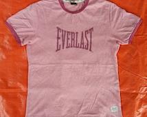 Vintage Everlast Boxing StreetWear skateboard Ringer Tshirt Medium